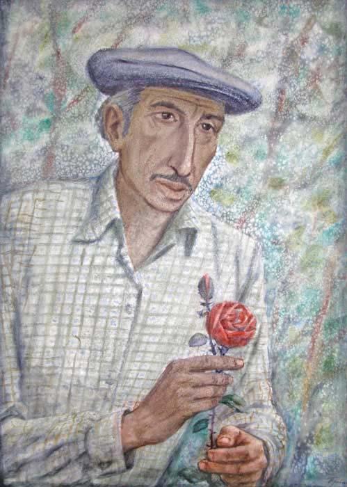 Герман Травников. Садовник, 1983. © Travnikov.Ru