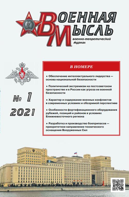 2021-01-11-Военная мысль. Обложка №1-2021