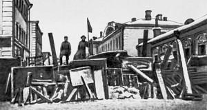 Москва. Баррикады на Малой Бронной. Декабрь 1905